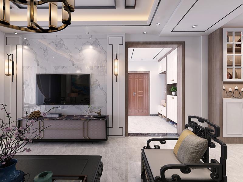 金融城-新中式风格装修案例