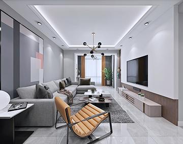 三联紫欣楼-后现代风格装修案例